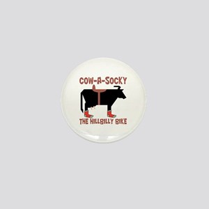 Cow A Socky Hillbilly Bike Mini Button