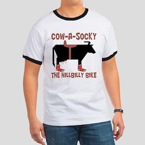 Cow A Socky Hillbilly Bike Ringer T