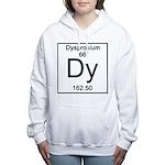 66. Dysprosium Women's Hooded Sweatshirt