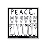 Peace. Sticker
