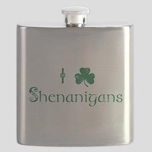 I Love Shenanigans (Green) Flask