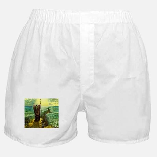 Moses MIracle at the Red Sea Israel P Boxer Shorts