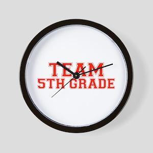 Team 5th Grade Wall Clock