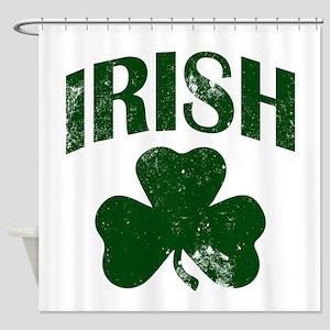 Irish Shamrock (Green) Shower Curtain