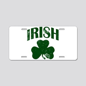 Irish Shamrock (Green) Aluminum License Plate