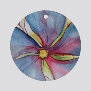 Rainbow Vinca Round Ornament