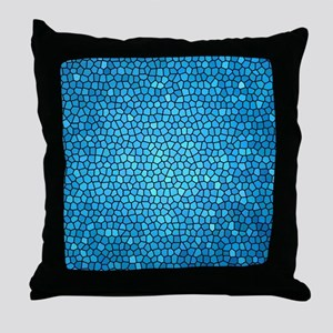 Pale blue  color stained glass patter Throw Pillow