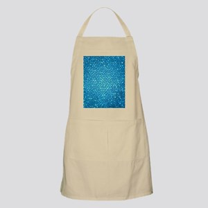 Pale blue color stained glass pattern Apron