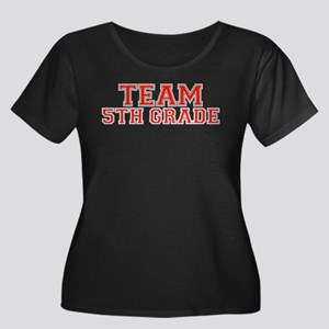 Team 5th Grade Women's Plus Size Scoop Neck Dark T