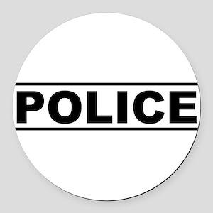 Police Round Car Magnet