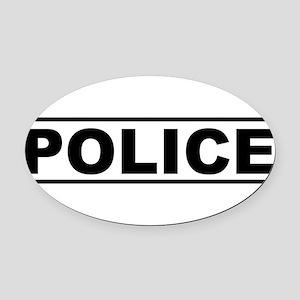 Police Oval Car Magnet