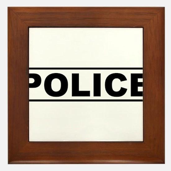 Police Framed Tile