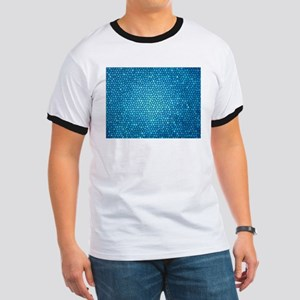 Pale blue/aqua color stained glass pattern T-Shirt
