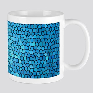 Pale blue/aqua color stained glass pattern Mugs