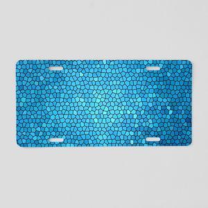 Pale blue/aqua color staine Aluminum License Plate