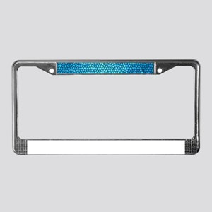 Pale blue/aqua color stained g License Plate Frame