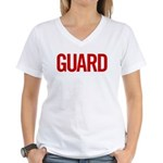 Guard (red) Women's V-Neck T-Shirt