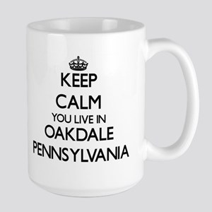 Keep calm you live in Oakdale Pennsylvania Mugs