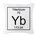 70. Ytterbium Woven Throw Pillow