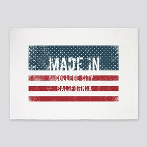 Made in College City, California 5'x7'Area Rug