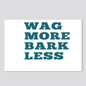 Wag More Bark Less Postcards (Package of 8)