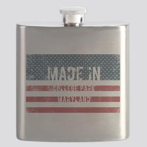 Made in College Park, Maryland Flask