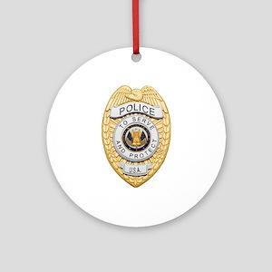 Police Badge Ornament (Round)