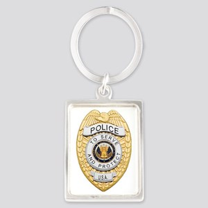 Police Badge Keychains