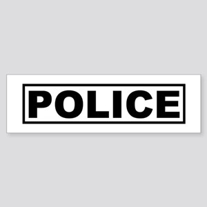 Police Badge Bumper Sticker