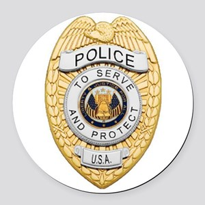 Police Badge Round Car Magnet