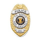 Police Oval Car Magnets