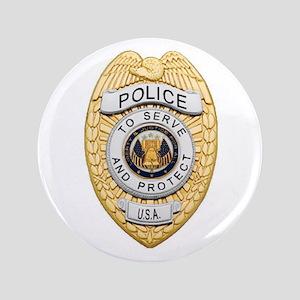 "Police Badge 3.5"" Button"