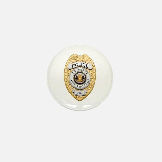Police Badge Mini Button