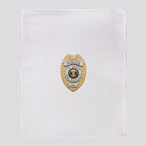Police Badge Throw Blanket