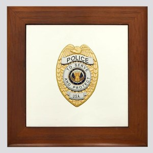 Police Badge Framed Tile