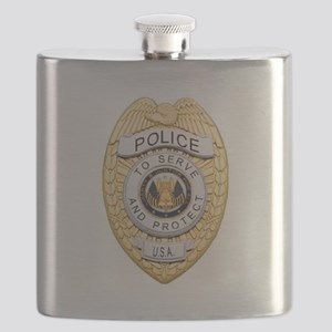 Police Badge Flask