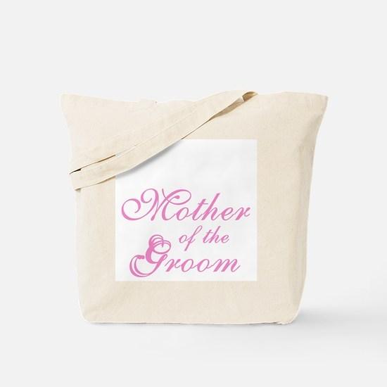 Mother of Groom Pink Elegant Text Tote Bag