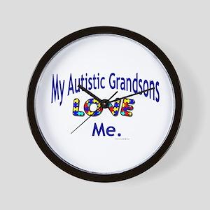 My Autistic Grandsons Love Me Wall Clock