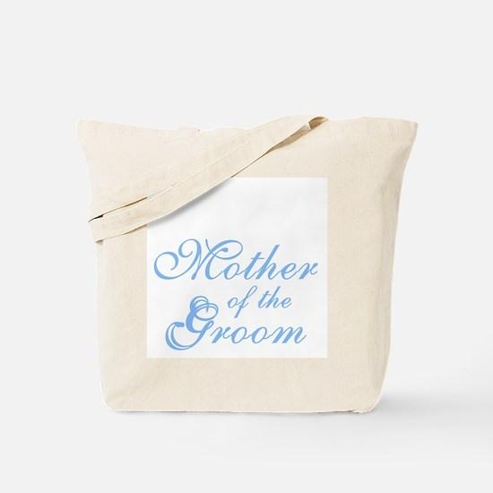 Mother of Groom Blue Elegant Text Tote Bag
