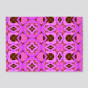 Pink Jazzy Pattern 5'x7'Area Rug