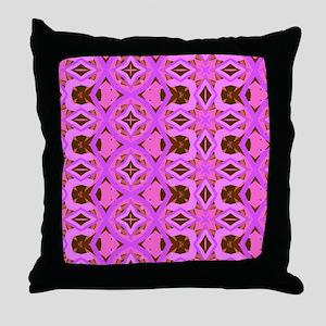 Pink Jazzy Pattern Throw Pillow