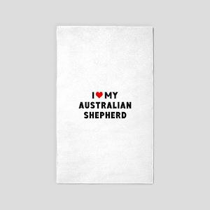 I LUV MY AUSTRALIAN SHEPHERD Area Rug