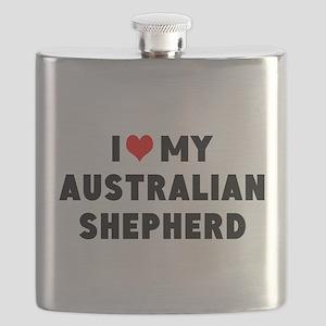I LUV MY AUSTRALIAN SHEPHERD Flask