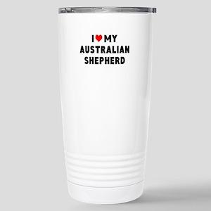 I LUV MY AUSTRALIAN SHEPHERD Travel Mug