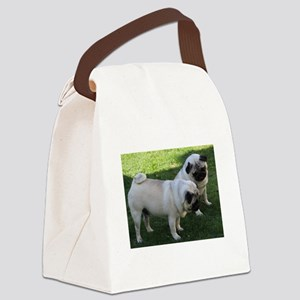 Two fawn Pugs Canvas Lunch Bag