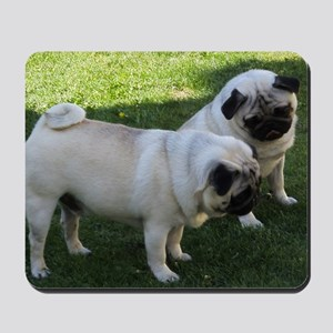 Two fawn Pugs Mousepad