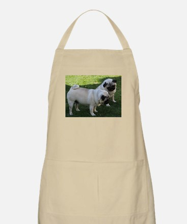 Two fawn Pugs Apron