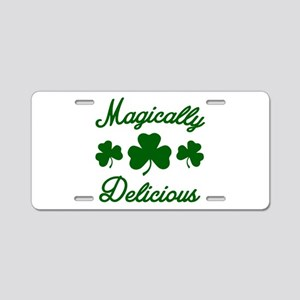 Magically Delicious Shamroc Aluminum License Plate