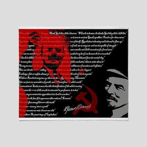 Lenin Throw Blanket