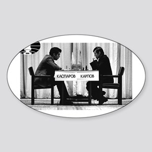 World Chess Champions Karpov Kasparov Mast Sticker